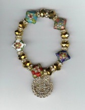 "Saint Benedict 7"" BRACELET With Swarovski Crystals (Cloisonné)"
