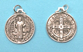 SILVER PLATED SAINT BENEDICT MEDAL