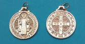 GOLD PLATED SAINT BENEDICT MEDAL