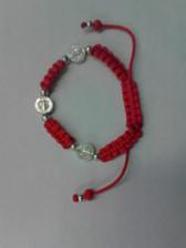 3 Medal Red Cord Saint Benedict Bracelet