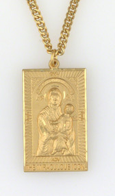 Mary Mediatrix of All Graces® 2-Sided, Gold Filled, All-Protective Icon Medal© AT A GREAT DISCOUNT!
