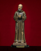 """10-day (51% pure beeswax), Blessed, Votive """"Sanctuary Candle"""" lit before The Most Miraculous Statue of Saint Padre Pio, Parde Pio's Miraculous Gloves, and Padre Pio's favorite stole with his blood and sweat on it - lit for all of your intentions!"""