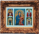Finest, Museum Quality, 5-Icons Set  in 8 Feet long 6 Feet wide Italian Renaissance Frame made for Blessed Pope John Paul II - AT 40% DISCOUNT!