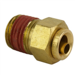"ALKON - 1/4"" HOSE 1/4"" NPT STRAIGHT PUSH-TO-CONNECT: 05-BF14-3"