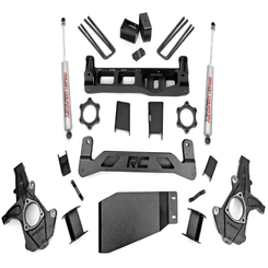 """ROUGH COUNTRY - 2007-13 GM 1500 4WD 5"""" LIFT KIT: 262.2"""