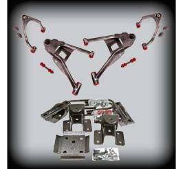 DJM - 2007-17 4/6 COMPLETE LOWERING KIT 2WD W/CAST SPINDLES - DJM2515-4/6
