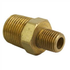 "ALKON - 1/2"" MALE TO 1/4"" MALE REDUCING HEX NIPPLE: 05-BF14-15"