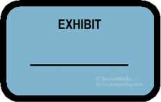 EXHIBIT Labels Stickers Blue 492 per pack