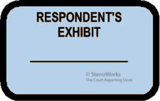 RESPONDENT'S EXHIBIT Labels Stickers Light Blue 492 per pack