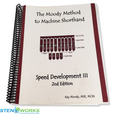 The Moody Method to Machine Shorthand  Speed Development III, 2nd Edition - Acceptable Condition