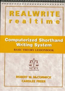 REALWRITE RT Computerized Shorthand Writing  Basic Theory Lesson Book - Good Condition