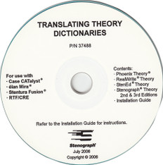 Stenograph® Translating Theory Dictionary CD