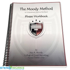 Moody Method to Machine Shorthand Phrase Workbook - Good Condition
