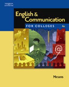 English and Communication for Colleges, 4th Edition - Good Condition