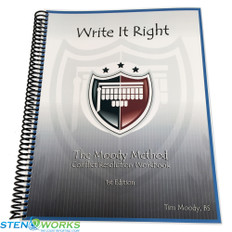 The Moody Method  Write It Right-Conflict Resolution Workbook, 1st Edition - Very Good Condition