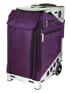 Professional Wheelie Case for Stenograph in Royal Purple with Silver Frame