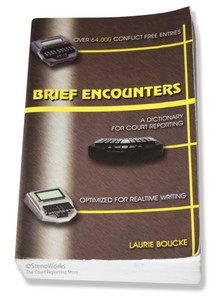 Brief Encounters A Dictionary for Court Reporting Very Good Condition