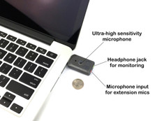 Titanium edition - Ultra High Gain Miniature Mono USB Omnidirectional Microphone and Headphone amplifier