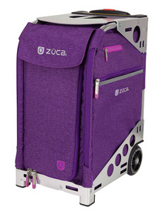 Zuca Professional Wheelie Case for Stenograph in Plum