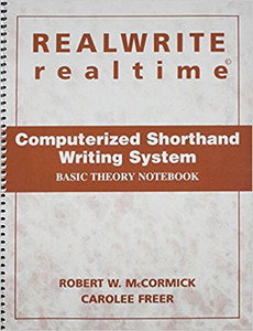 REALWRITE RT Computerized Shorthand Writing  Basic Theory Notebook Like New Condition