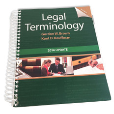 Legal Terminology Sixth Edition, 2014 Update - Very Good Condition