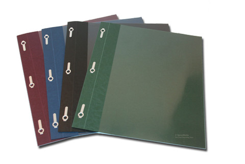 Recyled Transcript Covers with Fasteners Up to 80 Sheets