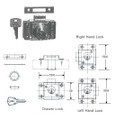 CYLINDER CABINET LOCK RIM LEFT HAND A-25MM OHS#5351-3