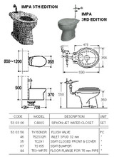 SEAT BUMPER MODEL TS155 FOR WATER CLOSET