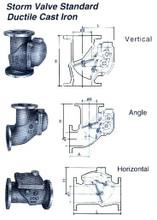 STORM VALVE VERTICAL TYPE NIIKURA-SV-FCD-150