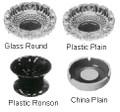 ASH TRAY PLASTIC RONSON INDIVIDUAL 99MM DIAM