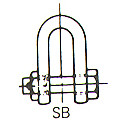 SHACKLE STRAIGHT HEX HEAD BOLT UNGALV JIS-SB 20MM SWL 2.5TON