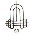 SHACKLE STRAIGHT HEX HEAD BOLT UNGALV JIS-SB 24MM SWL 3.6TON