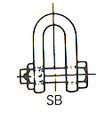 SHACKLE STRAIGHT HEX HEAD BOLT UNGALV JIS-SB 50MM SWL 15TON