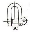 SHACKLE STRAIGHT EYE BOLT GALV JIS-SC 10MM SWL 0.6TON