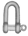 SHACKLE STRAIGHT EYE BOLT BLACK SE-TYPE 24MM SWL 3.6TON