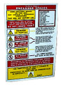 POSTER ENCLOSED SPACE ENTRY SAFETY SIGN 480X330MM