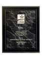 "Customized Award: 8"" x 10"" Black Marble Acrylic (Taxable)"