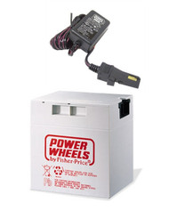 Power Wheels Jeep Wrangler 12 Volt Rechargeable Battery and Charger