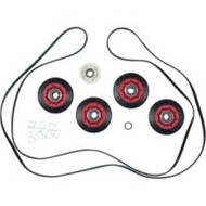 Whirlpool GEW9250PW1 Dryer Kit: Wheels, Pulley, Rings, Belt Replacement