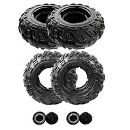 Power Wheels N9731 Kawasaki Brute Force Front and Rear Tire Wheel, 4 pack