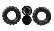 Power Wheels T3264 Jeep Hurricane Tire Wheel, 2 pack