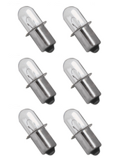 Dewalt 18v volt DW908 (6 pack) Xenon Replacement Flashlight Bulb