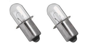Xenon Flashlight Bulb (2 pack) for Hitachi Rigid Makita