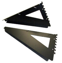 "Herman Miller Action Office AO2 Cantilever Support Bracket 18"" Black (Pair)"
