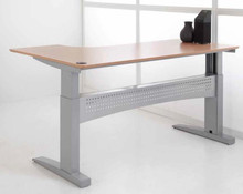 Sit to stand table by Conset. Electric height adjustable office table/desk.  Heavy duty ergonomic desk.