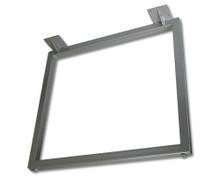 Welded Steel Construction.  Made in USA.  Has mounting plates and low profile glide feet.