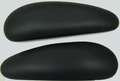Arm Pad Replacements Haworth Improv HE Chairs Hard Plastic Black