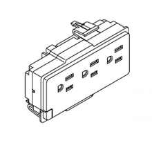 Haworth Premise Electrical Triplex 3 circuit receptacles 15 AMP Box of 6