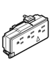 Haworth Premise NER-2 Triplex 3 Circuit IGR Receptacles 15 AMP Box of 6
