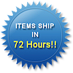 Items ship in 72 hours